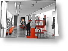 The Museum Greeting Card by Viesel