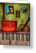 The Music Box Edit 3 Greeting Card by Leah Saulnier The Painting Maniac