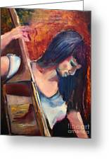 The Musician Greeting Card by Michael Kulick