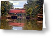 The Narrows Covered Bridge 4 Greeting Card by Marty Koch