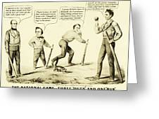 The National Game - Abraham Lincoln Plays Baseball Greeting Card by Digital Reproductions
