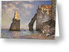 The Needle Etretat Greeting Card by Claude Monet