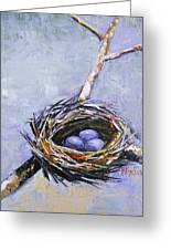 The Nest Greeting Card by Brandi  Hickman