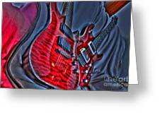 The Next Red Thing Digital Guitar Art By Steven Langston Greeting Card by Steven Lebron Langston