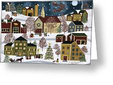 The Night Before Christmas Greeting Card by Medana Gabbard