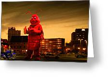 The Night Of The Lobster Man Greeting Card by Bob Orsillo