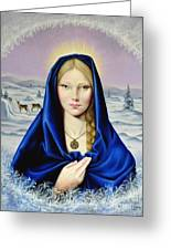 The Nordic Madonna Greeting Card by Nathalie Chavieve