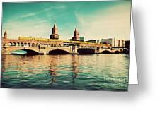 The Oberbaum Bridge In Berlin Germany Greeting Card by Michal Bednarek