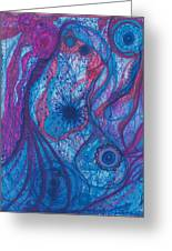 The Ocean's Blue Heart Greeting Card by Daina White