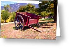 The Old Apple Cart Greeting Card by Glenn McCarthy Art and Photography