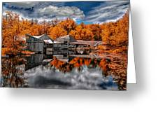 The Old Boat House Greeting Card by Bob Orsillo