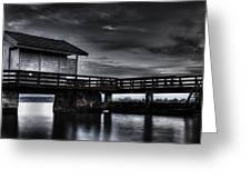 The Old Boat House Greeting Card by Erik Brede
