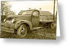The Old Farm Truck Greeting Card by John Debar