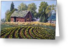 The Old Farmstead Greeting Card by Rick Hansen