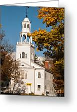 The Old First Church Battle Monument Hill Bennington Vermont Greeting Card by Robert Ford