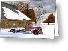 The Old Jalopy Greeting Card by Sarah Batalka