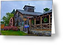 The Old Mill Restaurant - Old Forge New York Greeting Card by David Patterson