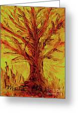 The Old Oak Tree I Greeting Card by Larry Martin