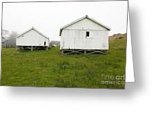 The Old Pierce Point Ranch At Foggy Point Reyes California 5d28140 Greeting Card by Wingsdomain Art and Photography