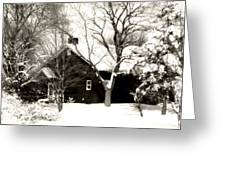 The Old Red House Greeting Card by Heather Allen