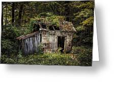 The Old Shack In The Woods - Autumn At Long Pond Ironworks State Park Greeting Card by Gary Heller