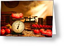 The Old Tomato Farm Stand Greeting Card by Olivier Le Queinec