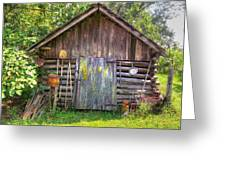 The Old Tool Shed II Greeting Card by Lanita Williams