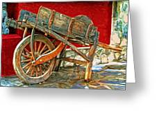 The Old Wheelbarrow Greeting Card by Michael Pickett