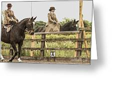 The Other Side Of The Saddle Greeting Card by Linsey Williams