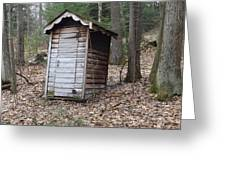 The Outhouse Greeting Card by Michael Sokalski