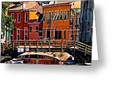 The Painters Eye In Venice Greeting Card by Ira Shander