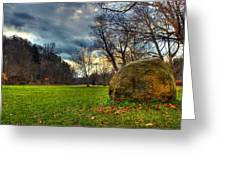 The Park Greeting Card by Tim Buisman