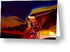 The Part Of The Interior Design Of The Restaurant-salvador Dali Greeting Card by Vitaliy Shcherbak