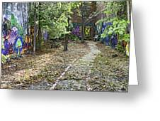The Path of Graffiti Greeting Card by Jason Politte