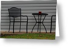 The Patio In Living Color Greeting Card by Rob Hans