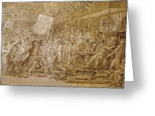 The People Of Paris Storm The Tuileries Greeting Card by Francois Pascal Simon Gerard