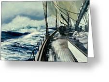 The Perfect Storm Greeting Card by Michael Swanson