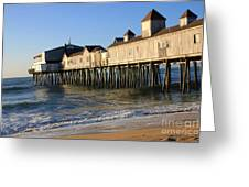 The Pier Greeting Card by Michael Mooney