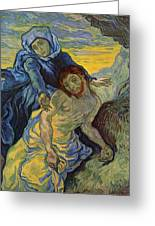 The Pieta After Delacroix 1889 Greeting Card by Vincent Van Gogh