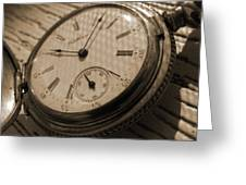 The Pocket Watch Greeting Card by Mike McGlothlen