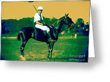 The Polo Player - 20130208 Greeting Card by Wingsdomain Art and Photography