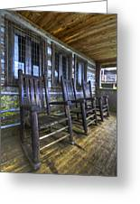 The Porch Greeting Card by Debra and Dave Vanderlaan