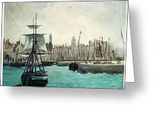 The Port at Calais Greeting Card by Edouard Manet