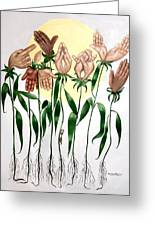 The Prayer Garden Greeting Card by Anthony Falbo