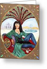 The Queen Of Sheba Greeting Card by Karin  Leonard