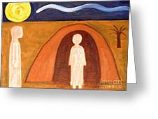 THE RAISING OF LAZARUS Greeting Card by Patrick J Murphy