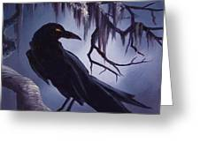 The Raven Greeting Card by James Christopher Hill