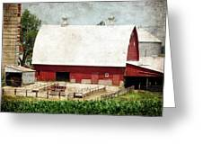 The Red Barn Greeting Card by Cassie Peters