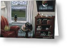 The Red Chair 1997 Greeting Card by Larry Preston