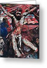 The Red Christ Greeting Card by Lovis Corinth